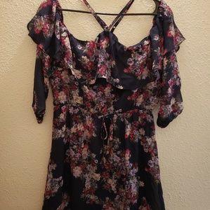 *NEW*Maurice's Chiffon/Cold Shoulder Dress